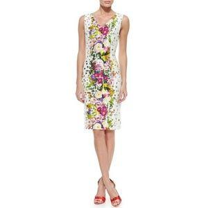 CAROLINA HERRERA Floral Confetti Sheath Dress